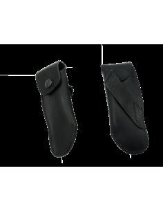 Étui cuir ceinture pour couteaux de chasse 13 cm, noir