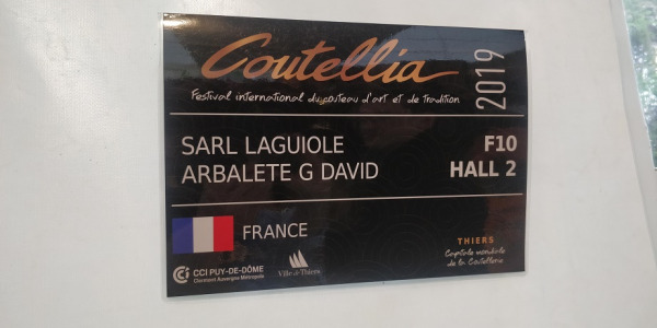 Coutellia festival international du couteau d'art et de tradition Edition 2019